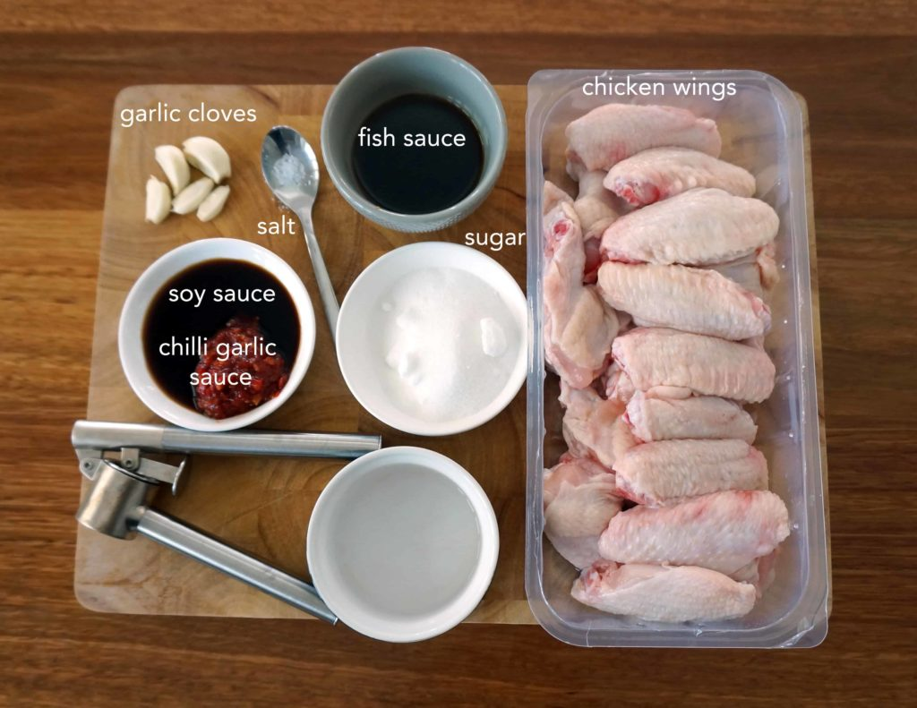 Ingredients for Oven Baked Vietnamese Chicken Wings