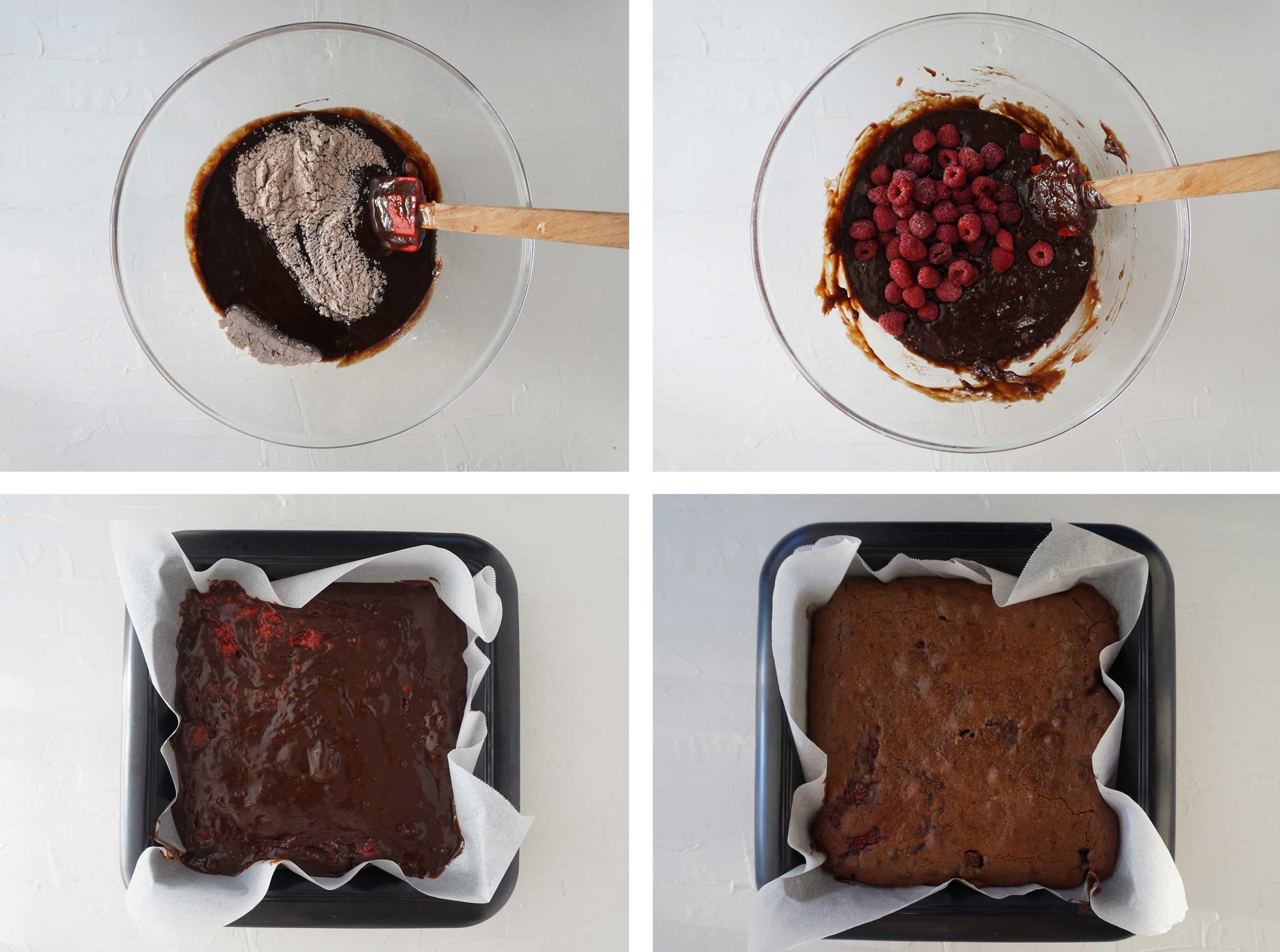 process photos showing the last four steps to make the recipe
