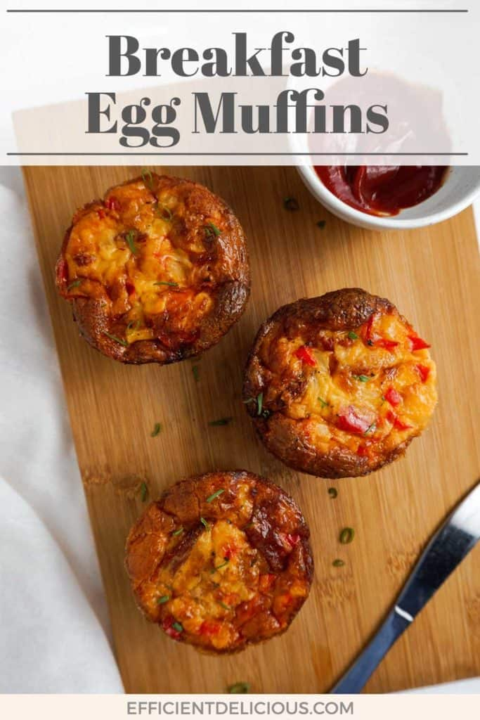 pinterest pin for breakfast egg muffins